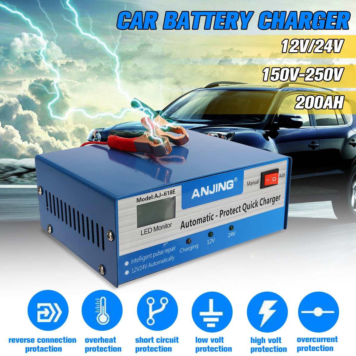 Chargeur de batterie de voiture Autoleader Applicable à 12 V/24 V prise américaine batterie au plomb PWM cinq Modes de charge méthode de réparation numérique