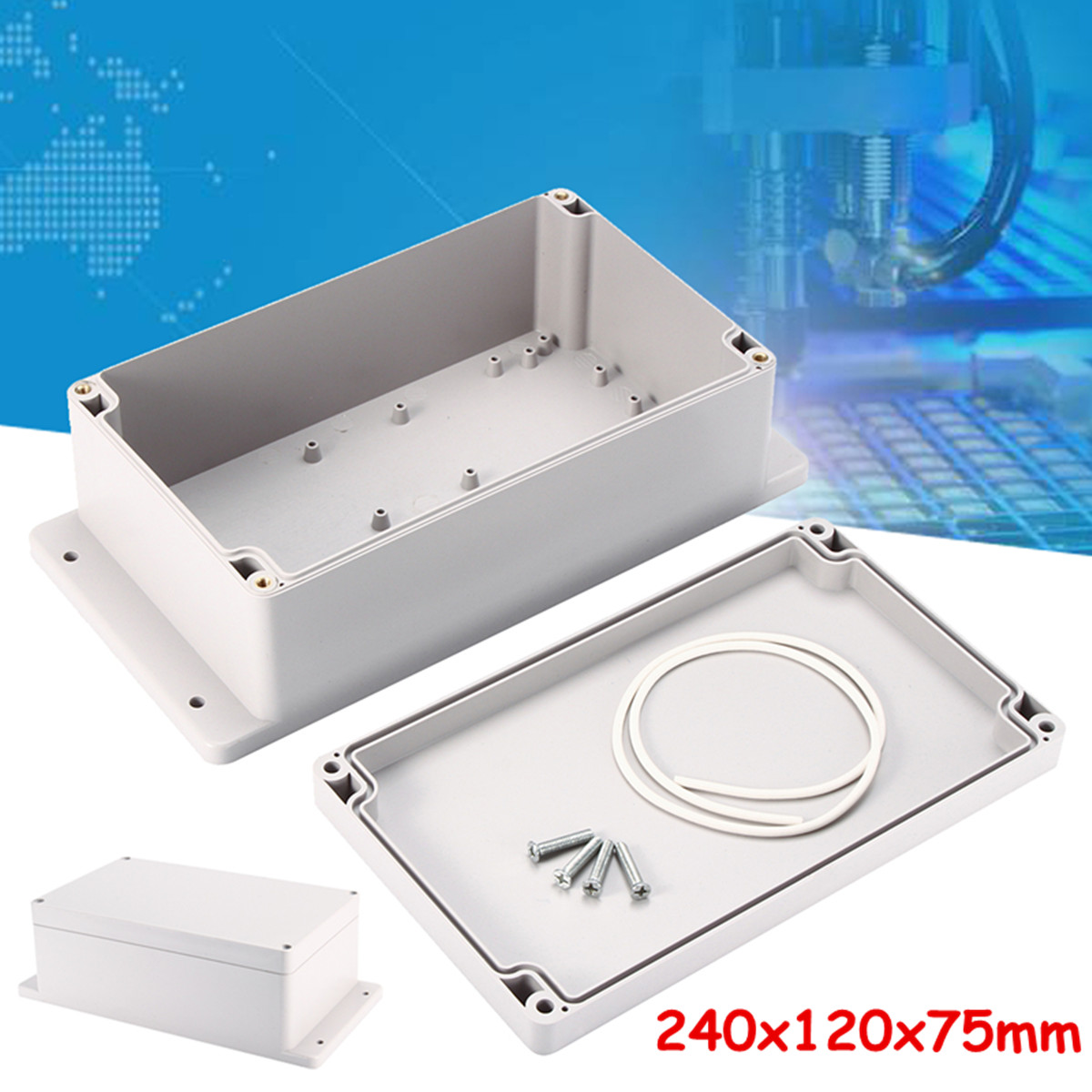 240x120x75mm ABS Waterproof Enclosure Box Electronic Project Instrument Case Electrical Project Box Outdoor Junction Box Housing