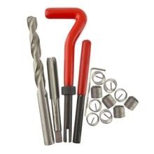 купить Professional Manual Thread Set Car Repair Auto Repair Kit M10 * 1.0 / 1.25 / 1.5 Thread Repair Tool With 10 Wire Thread Inserts недорого