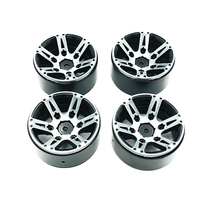 4Pcs Rc Rock Crawler Wheel Rim 1.9 Inch Beadlock For 1/10 Axial Scx10 90046 Tamiya Cc01 D90 D110 Tf2 Traxxas Trx 4(Black)