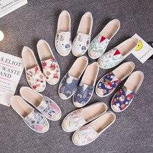 Ladies Shoes Footwear Espadrille Platform Women Loafers Slip-On Flat Comfort Autumn Graffiti