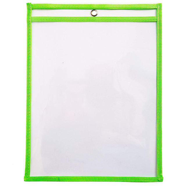 hot-10 Dry Erase Pockets, Oversize 9 x 12 Inch Pockets, Perfect Classroom Organization, Reusable Dry Erase Pockets, Teaching S 5