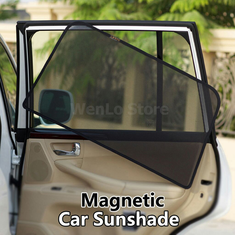 2 pcs 2 Pcs Magnetic Car Front Side Window Sunshade For Nissan Qashqai Teana Sylphy Elgrand E52 Car Accessories Car Window Curtain (4)