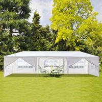 3x9m Waterproof Garden Outdoor Sun Shelter Beach Tent Parking Shed Wedding Party Large Pavilion Canopy Outdoor Camping Tend