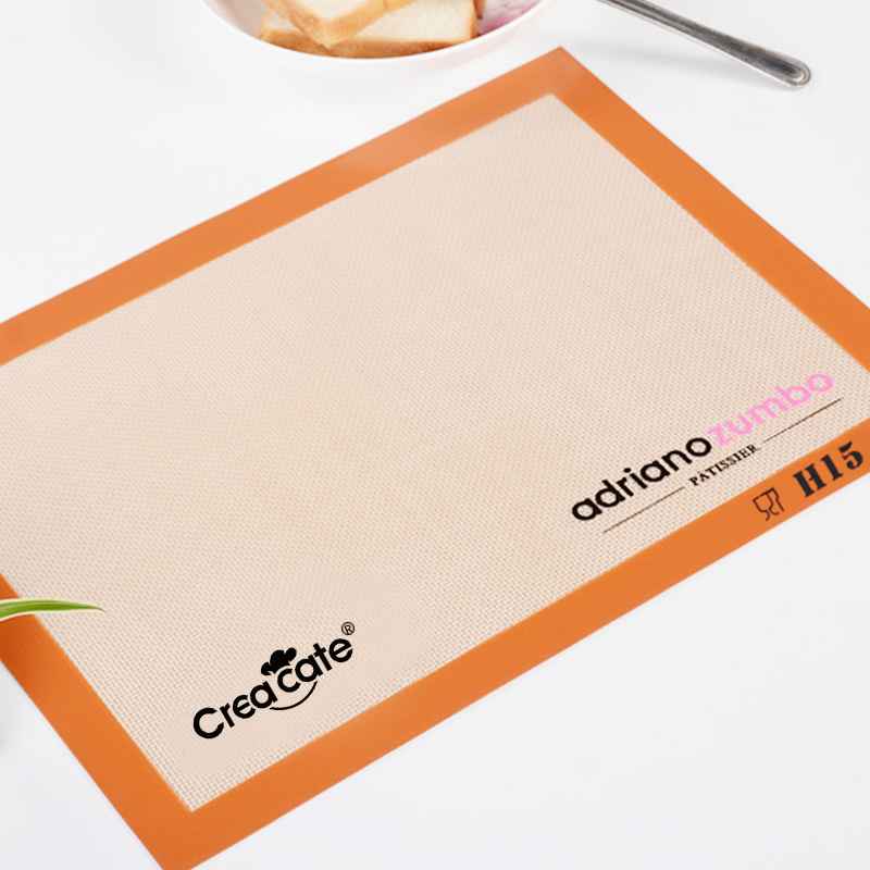 Creacate 비 스틱 베이킹 매트 실리콘 유리 섬유 매트 롤링 반죽 fondant 또는 지저분한 공예품 sugarcraft 매트