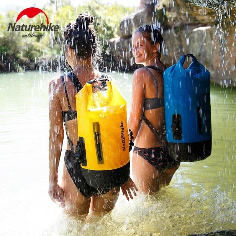 Naturehike 20L 30L 40L 420D TPU Waterproof River Trekking Bags Dry Pack Bag Dry Wet Separation Waterproof Drift Storage Bag