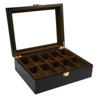 10 Grids Wooden Watch Box Jewelry Display Storage Holder Organizer Watch Case Jewelry Dispay Watch Box