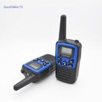 uhf שני הדרך רדיו 2pcs GOODTALKIE T5 מכשיר הקשר UHF תדירות Portable Custom רדיו שני הדרך Ham ווקי טוקי Case (5)