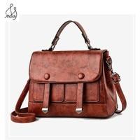 Vintage Pu Leathe For Women Messenger Clutch Totes Bag Crossbody Lock Hasp Bags Satchels Shoulder Handbags High Quality Maidy