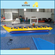 8 persons flying banana boat with free air pump,ocean rider inflatable for sale