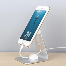 Get more info on the JXSFLYE Rotation Aluminum Alloy Holder Desktop Tablet  Mobile Phone Stand Holder Bracket For iPhone X  iPad Nexus Samsung