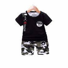 0ae19fbfc 2019 nuevo verano Casual camuflaje bebé recién nacido Niño ropa conjunto  camiseta Tops pantalones 2 unids