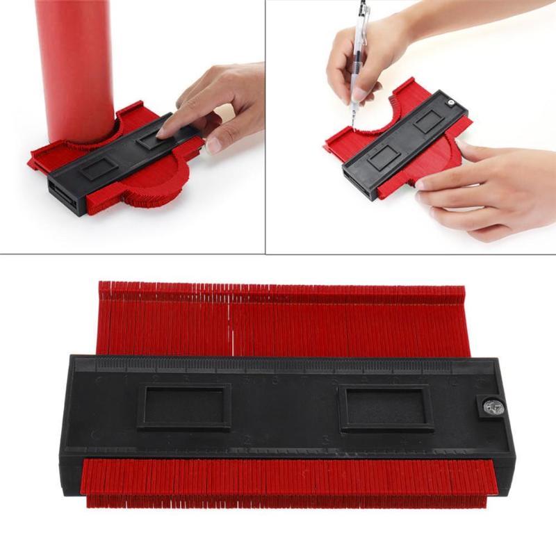 5 Inch Plastic Profile Copy Contour Gauge Standard Wood Marking Winding Pipe Tiling Laminate Tool Drafting Supplies Rulers