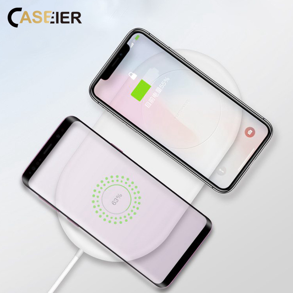 CASEIER Wireless-Charger Mate 20 Fast-Charging Universal Double-Seat IPhone 8 QI
