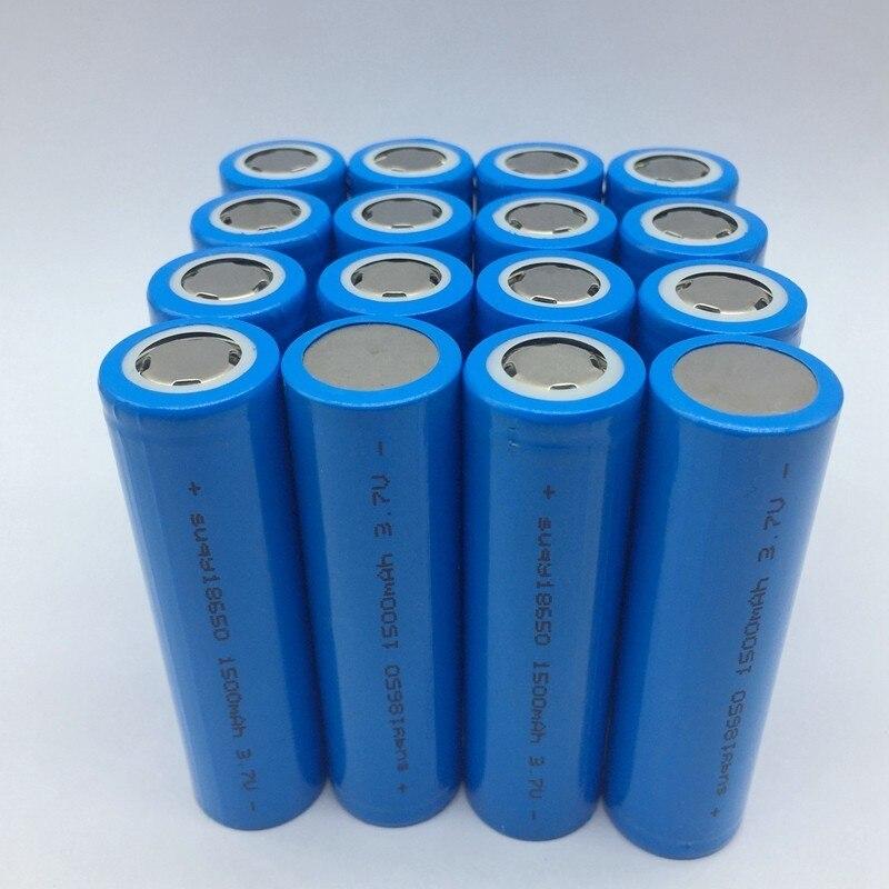Supersedebat 12/18/20/24/30/36/40 Pcs New 18650 1500mAh 3.7v Battery Bateria Rechargeable Batteries 3.7 V 1500mah Accumulator