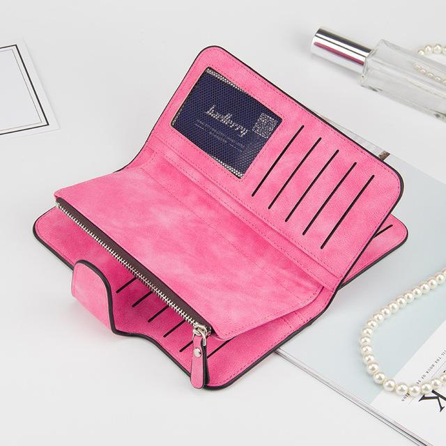 Baellerry Brand Wallet Women Scrub Leather Lady Purses High Quality Ladies Clutch Wallet Long Female Wallet Carteira Feminina