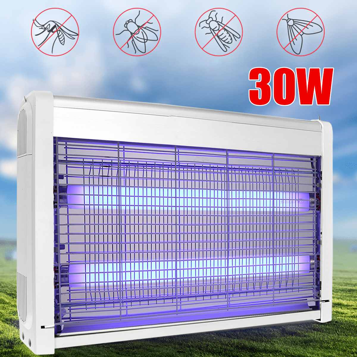 30W 220V Electric UV Insect Killer Mosquito Insect Fly Bug Insect Zapper Trap Catcher Home Garden Outdoor LED Lamps30W 220V Electric UV Insect Killer Mosquito Insect Fly Bug Insect Zapper Trap Catcher Home Garden Outdoor LED Lamps