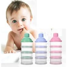 Портативный дозатор молочного порошка, контейнер для хранения еды, кормушка для малышей, четыре сетки, коробка для хранения детского питания