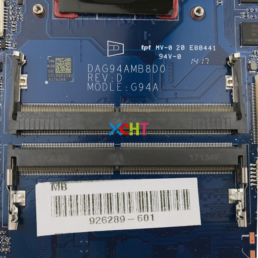 motherboard graphics 926289-601 926289-001 DAG94AMB8D0 w 530/4GB Graphics w A12-9720P CPU for HP Pavilion Laptop 15-cd Series Motherboard Mainboard (3)