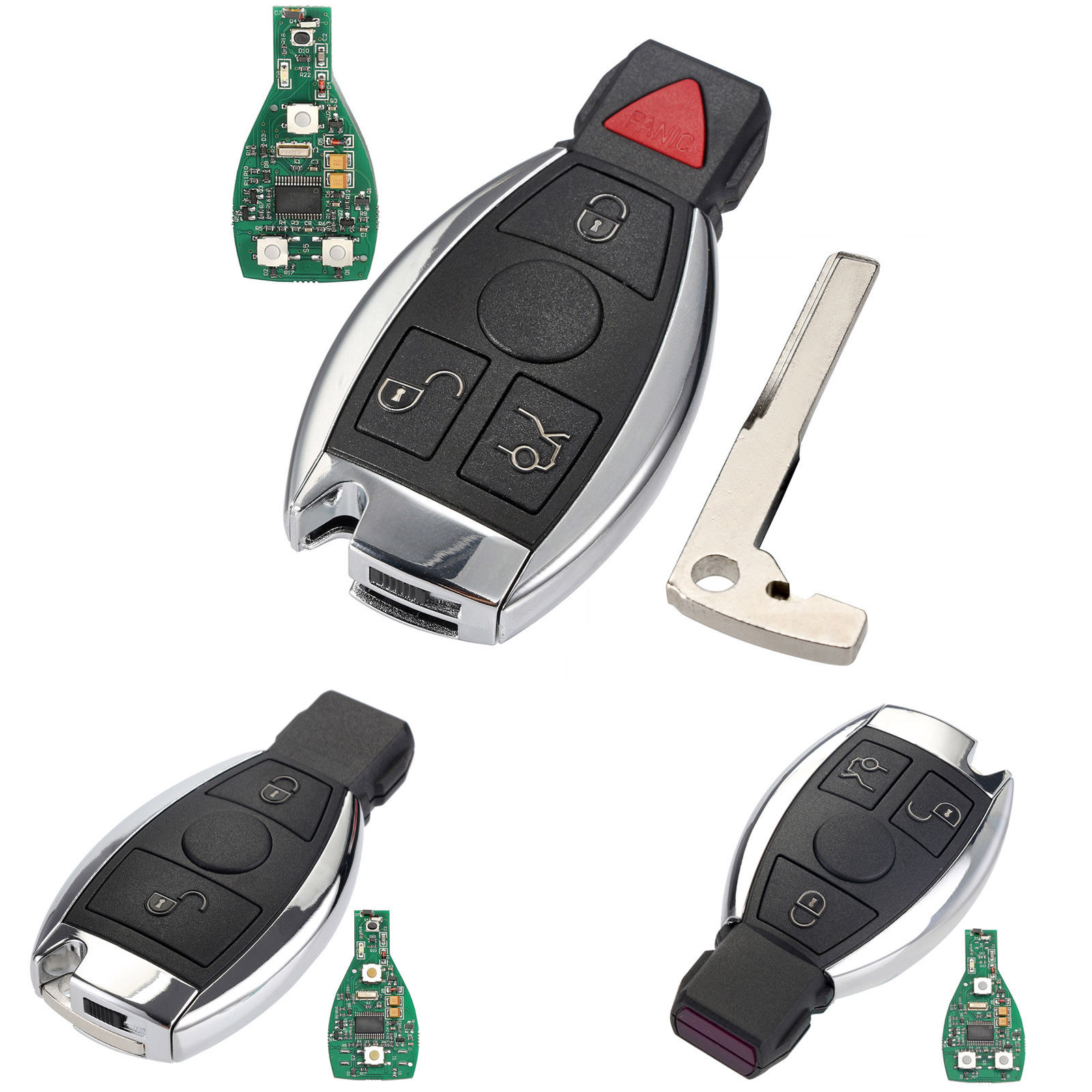 2 3 3+1 Buttons Keyless Entry Remote Car Key 433MHz for Mercedes BENZ 2000+ with BGA&NEC Chip Smart Key Shell Case цены