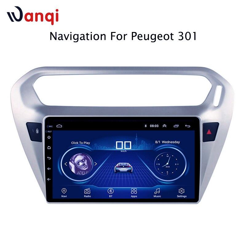 Autoradio Pour peugeot 301 citroen elysee 2014-2018 Android 8.1 HD 9 pouce Tactile Unité de Tête de l'écran GPS navigation Multimédia Lecteur