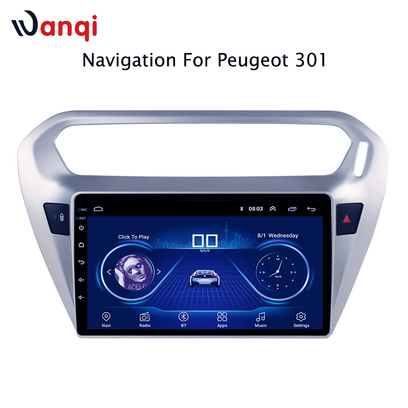 Car Radio For peugeot 301 citroen elysee 2014 2018 Android 8 1 HD 9 inch Touch