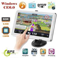X8 7 Inch Touch Screen Ultra Thin Car Truck GPS Navigation System Portable 8GB GPS Navigator FM transmitting Touch Screen HD GPS