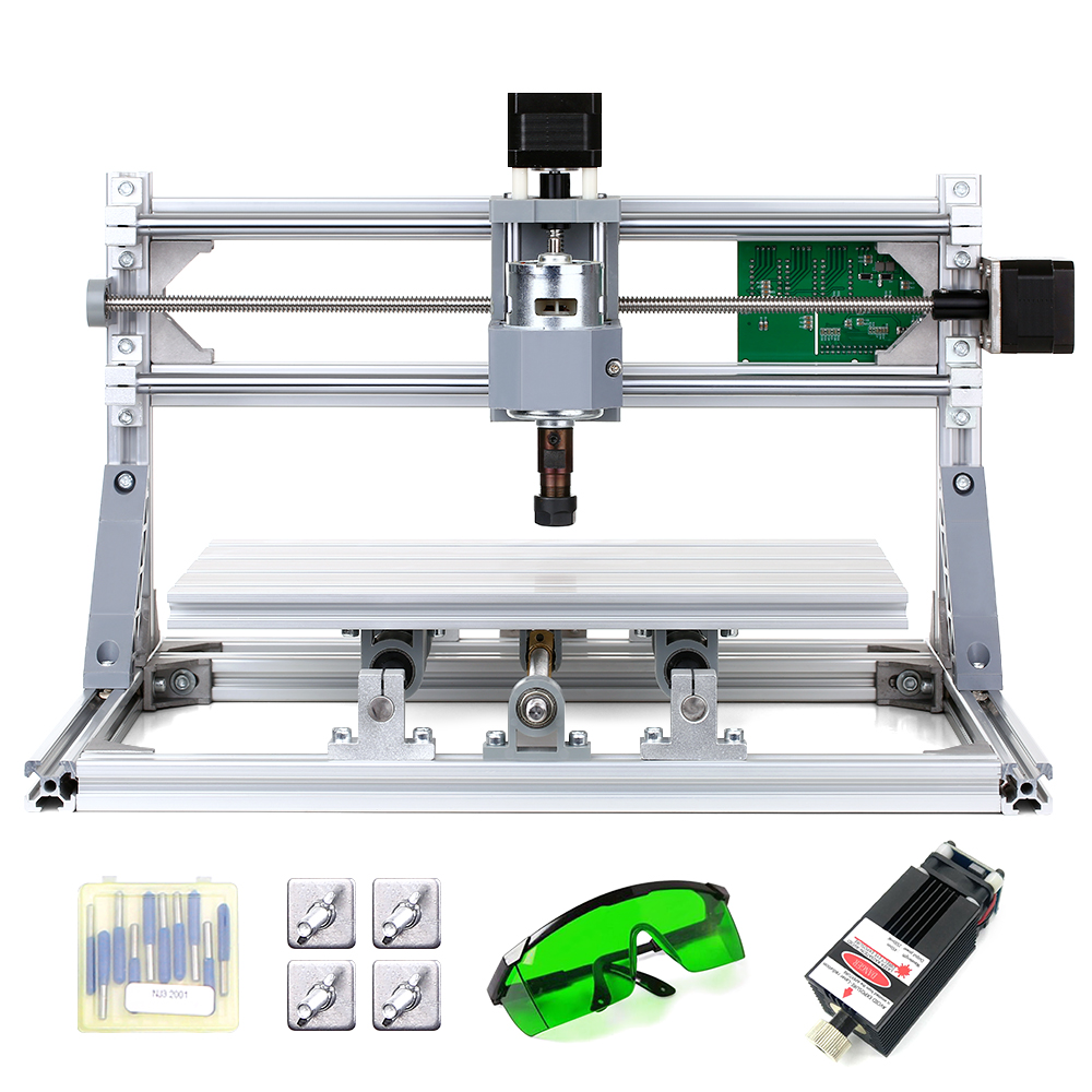 CNC3018 DIY CNC Router Kit 2-in-1 Mini Laser Engraving Machine GRBL Control 3 Axis Wood Carving Milling Engraving Machine