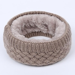 Hot Women Men Fashion Female Winter Warm Scarf Solid Chunky Cable Knit Wool Snood Infinity Neck Warmer Cowl Collar Circle Scarf(China)