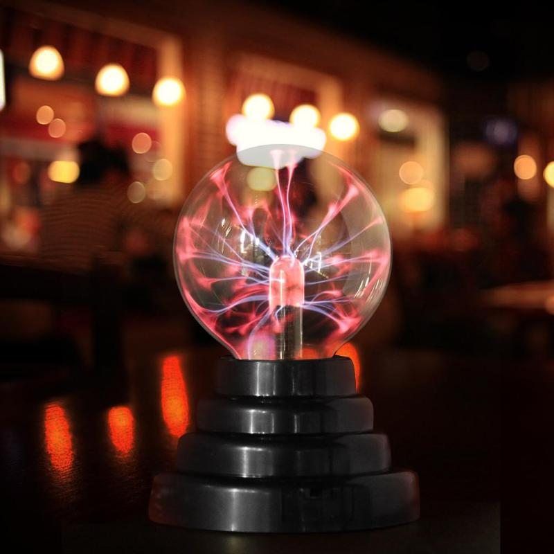 Novelty Glass Magic Plasma Ball Light 3 Inch Table Lights Sphere Nightlight Kids Gift For New Year Magic Plasma Night Lamp