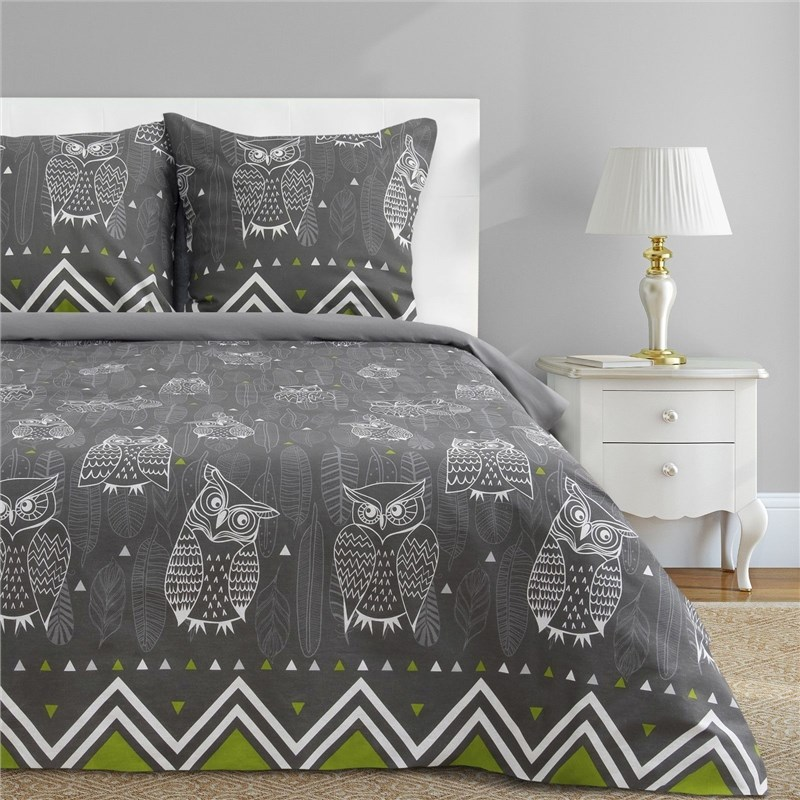 Bed Linen Ethel Euro Ушастые Owl (type 1) 200x217 cm, 220x240 cm, 70x70-2 pcs, calico calico print crochet back mix