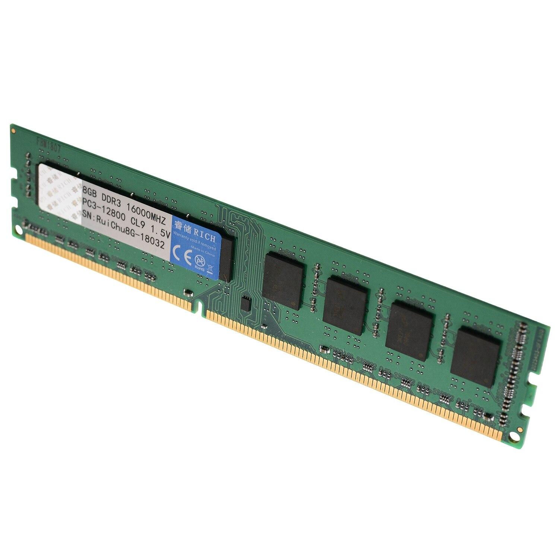Hot-ruichu Ddr3 8G 1600Mhz 1.5V 240Pin ram de bureau mémoire pour carte mère Amd