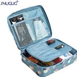 SNUGUG девушка макияж сумка женский косметический мешок моющийся туалетный Макияж Органайзер сумка для дорожного набора многофункциональная...