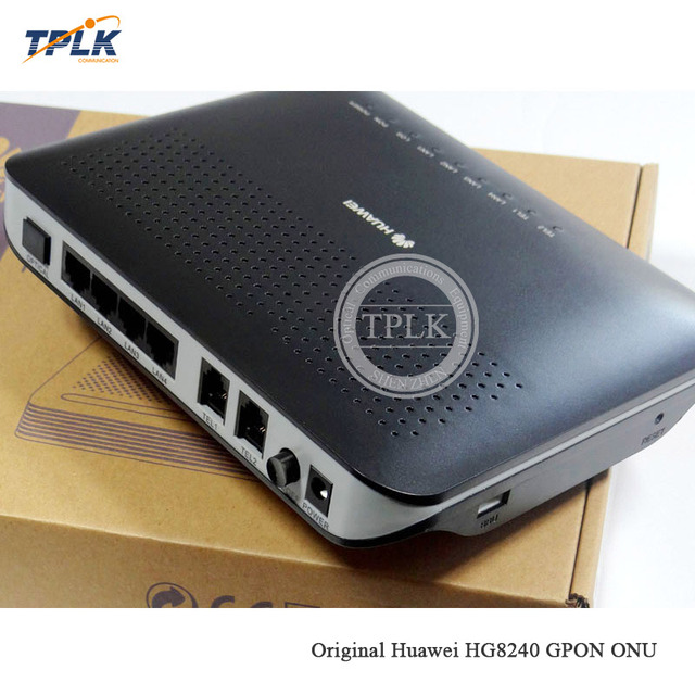 2019 Hottest Original hua wei HG8240 GPON ONU 1GE+3FE+4LANS+WIFI OR 4FE+4LANS+WIFI for FTTH FTTB FTTX network fiber optic router