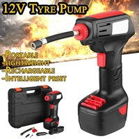 12V Emergency Air Compressor Cordless Portable Compressor Electric Inflator Portable Hand Held Pump with Digital LCD Car Styling