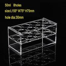 Şeffaf Plastik laboratuvar test tüpü Tutucu test tüpü tutucu/Raf Santrifüj Tüpü laboratuvar malzemeleri için 8 delik * dia 30mm