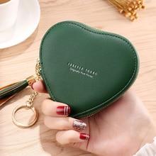 Coin Purse Mini Wallet Heart Money-Bag Leather Clutch Female Girls Fashion Kawaii Women