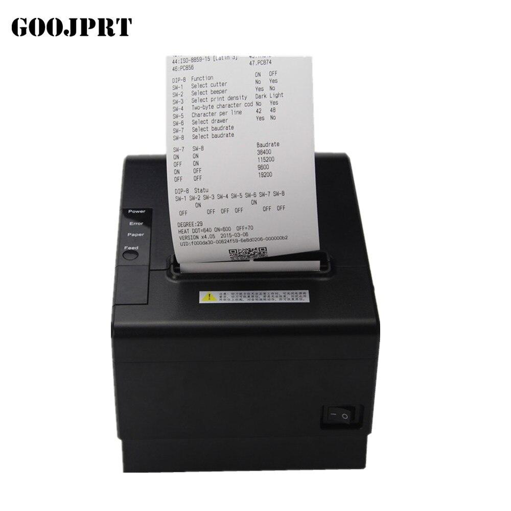 80 мм чековый POS принтер автоматический резак Билл термопринтер USB Ethernet Серийный три порта интегрированы в один принтер