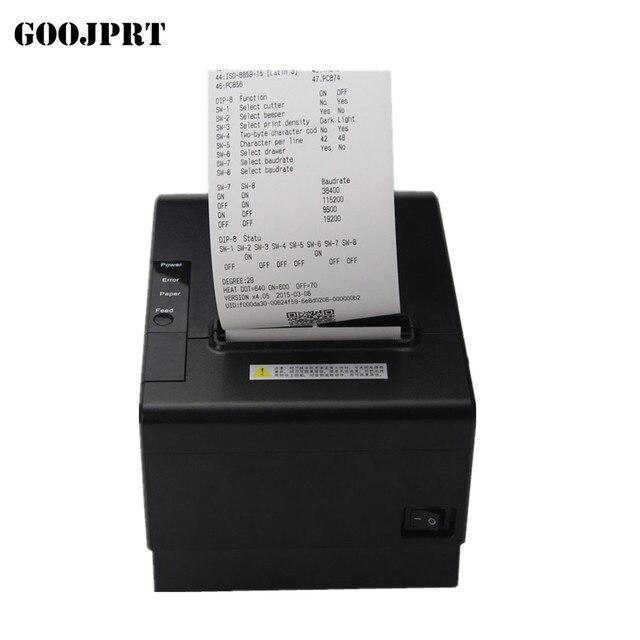 Impresora TPO de recepción de 80mm impresora térmica de factura automática USB Ethernet serie tres puertos están integrados en una impresora