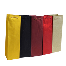 wedding decoration 6pcs/lot Gift Glitter wine Bags paper bag Colorful Top Package Bag wholesale