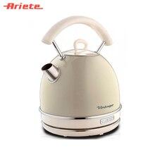 Чайник Ariete Vintage 2877/03 бежевый, стильный ретродизайн, объем 1,7 литра, поворот на 360 градусов, фильтр против накипи, индикатор уровня воды