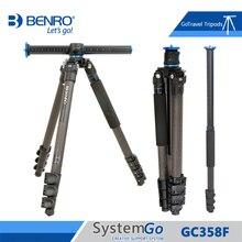 Штатив Benro GC358F для камеры из углеродного волокна, монопод, штативы для камеры, 4 секции, сумка для переноски, максимальная нагрузка 18 кг, стандартная Бесплатная доставка