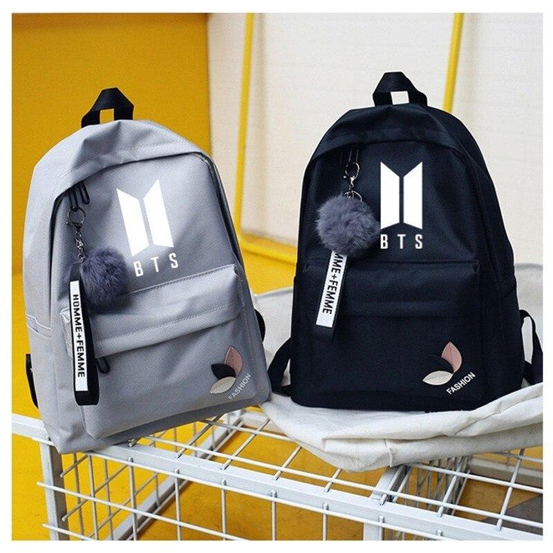 Wanna One Bts Twice Exo Got7 Backpacks Monsta X Backpack Sac A Dos Kpop K-pop K Pop School Bag Backpack For Teenager Girl Women