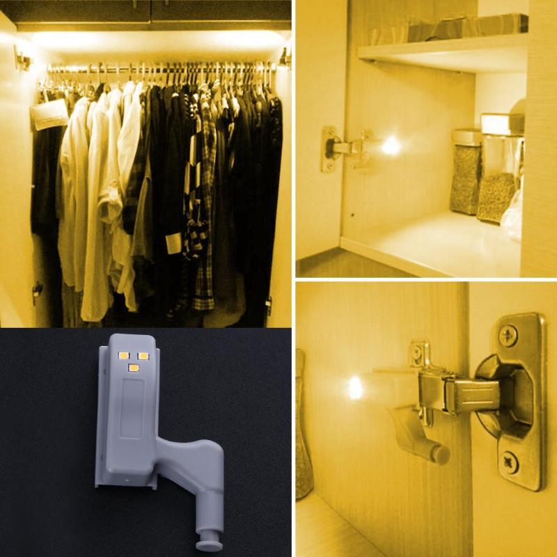 3 LED Sensor Light Kitchen Bedroom Living Room Cabinet Closet Cupboard Wardrobe Inner Light Mini Night Lamp