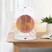 Electric Fan Heater 2 Heat Settings Warm Air Blower 220 240V 1000/2000W automatic overheat protection for House Office