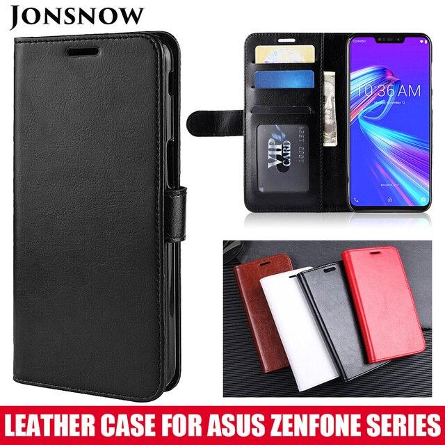 JONSNOW Asus Zenfone 5 最大 M2 ZB633KL 財布 Asus ZB602KL ZB555KL ZC520KL ZB631KL 高級 Pu レザーカバー