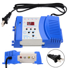 47-868MHz Professional Home Modulator US/EU Plug Plastic Digital VHF UHF RF Modulator AV To RF AV To TV Converter Adapter цена