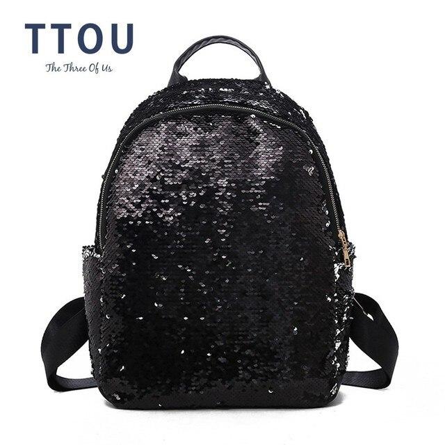 TTOU Fashion Sequins Shiny Backpack Bling Girls Glitter School Bags Women  Shine Bag Paillette Bookbag Female Mochila