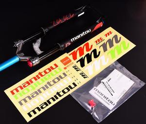 """Image 5 - 1420g Manitou R7 MRD אופניים גז מזלג אופני הרים 26 אינץ 27.5 """"ידני שלט רחוק מנעול 100mm נסיעות השעיה מזלג 2020"""
