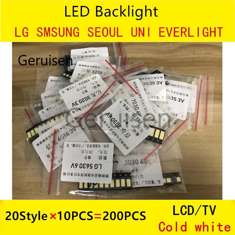 For LG Led Tv Backlight 8520 2835 3030 3535 2828 3V 6V 3228 7020 7030 4014 3014 5630 6030 7032 LUMENS  SEOUL SAMSUNG Cool White